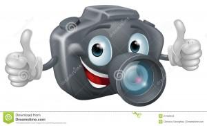 mascotte-d-appareil-photo-de-dessin-animé-27422454