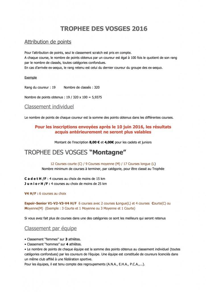 ReglementTROPHEE DES VOSGES 2016
